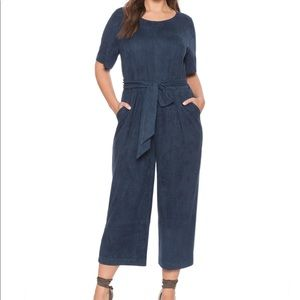 NWT eloquii faux suede cropped jumpsuit
